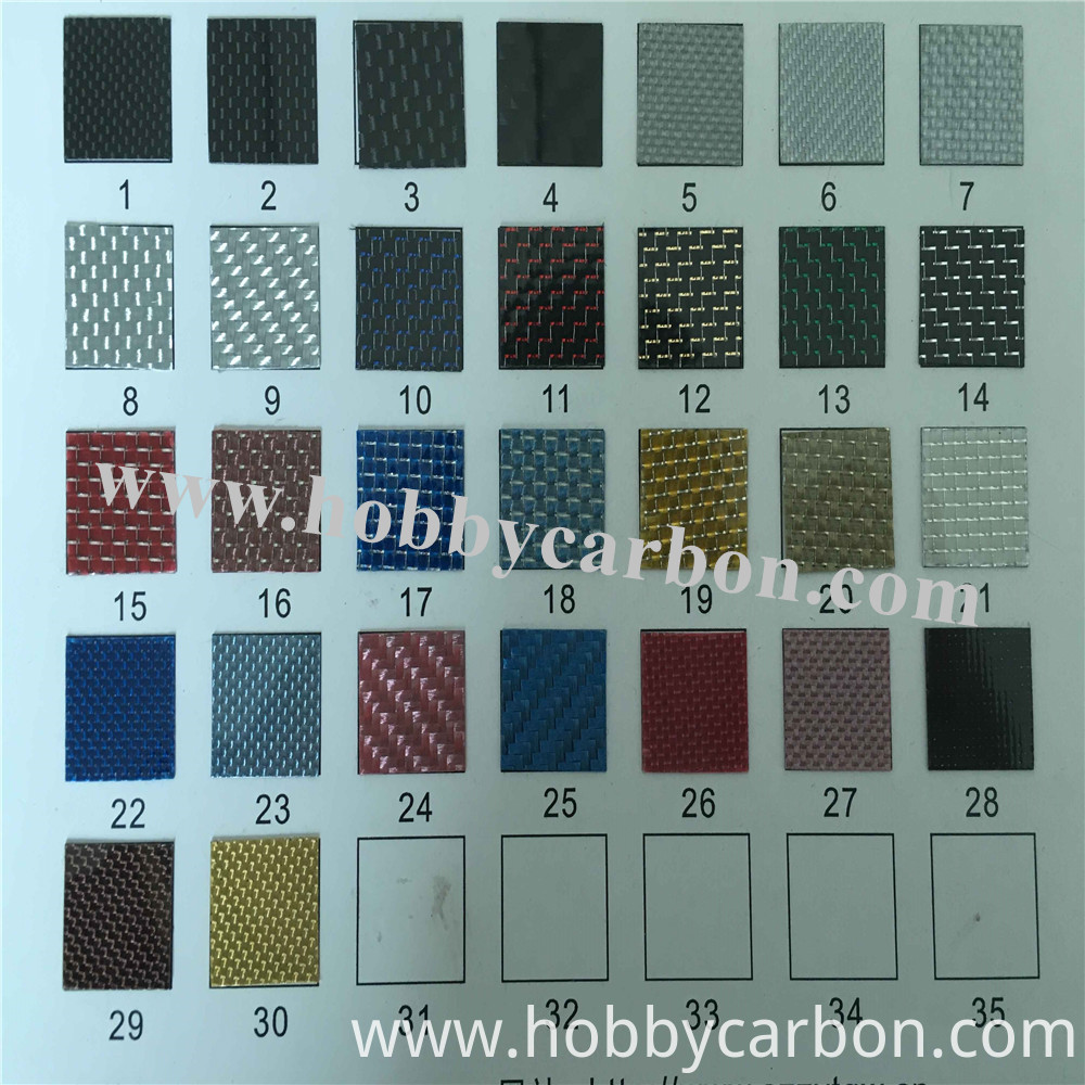 Color Card For Carbon Sheet