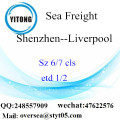 Shenzhen Port LCL Consolidation To Liverpool