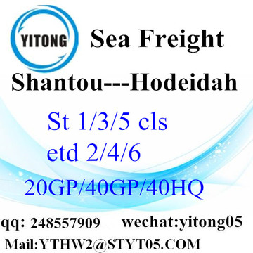 Shantou Sea Freight to Hodeidah