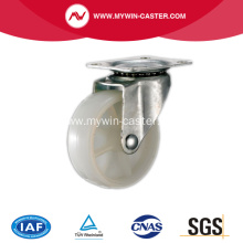1 1/2' Light Duty Swivel White PP Industrial Caster