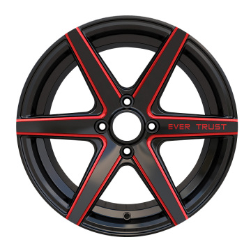 Custom Car Wheel 15x7 4x100 Black Milled
