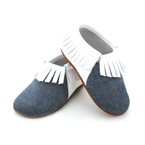 Elastic Crib Shoes Soft Leather Sole Baby Moccasins