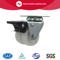 2 Inch Plate Swivel PP Material With Brake Small Twin Caster