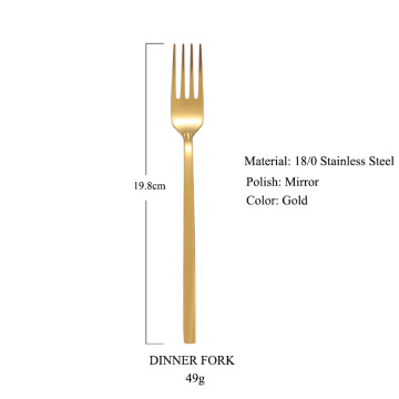 Mirror polish spoon fork knife wedding cutlery