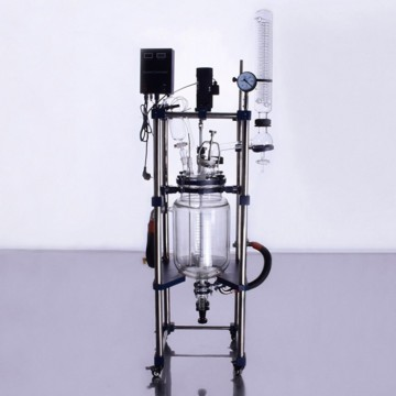 High Efficiency explosion-proof 10l jacketed glass reactor