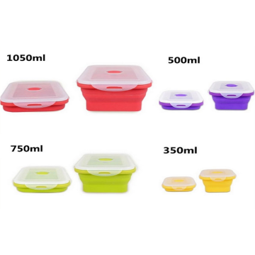 Food Storage Silicone Folding Lunch Box Set