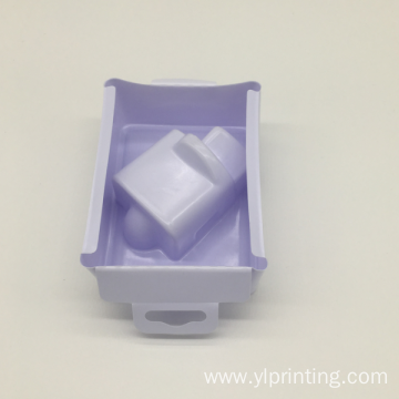 PS plastic packing white electronic blister packing tray