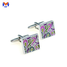 Square enamel custom your own cufflink design