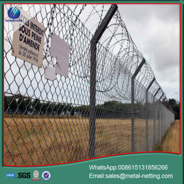 diamond mesh fence galvanized chain link fence
