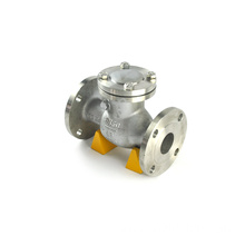 flanged swing GB lift stainless steel dual plate swing ptfe made natural gas check valve dn80