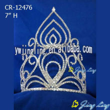 Glitz Custom rhinestone flame cheap pageant crowns
