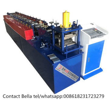 Steel profile shutter door gate frame shaping machine