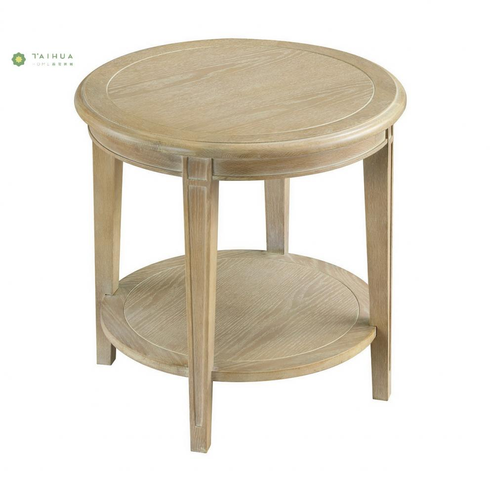 Wood End Table Double Top