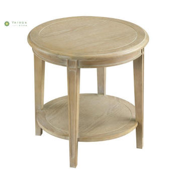 Double Top Full Solid Wood End Table