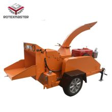 Diesel engine wood chipper shredder