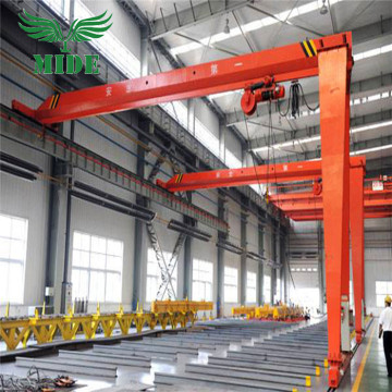 MHB semi gantry crane with electric hoist