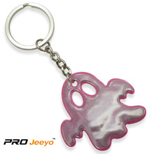 Reflective Pink PVC Ghost Shape Pendant