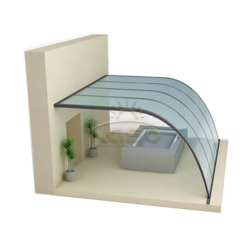 High Quality for Retractable Pool Enclosure Thailand Tent Safety Swimming Pool Cover Polycarbonate supply to Tunisia Manufacturers