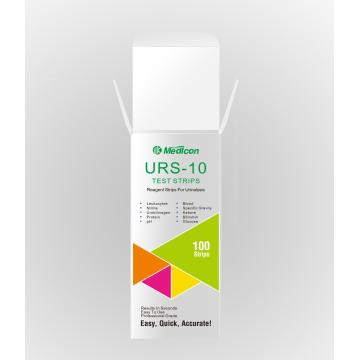 clinical urine test strip 10 parameters URS10T