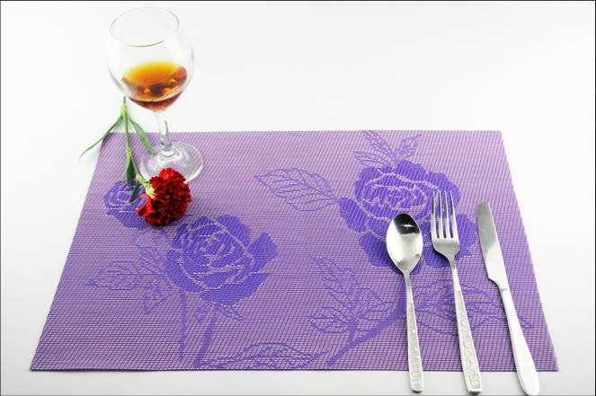 Home three pieces of PVC table mat decoration shop2