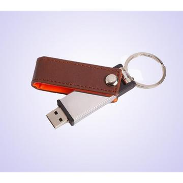 swivel leather usb flash drive