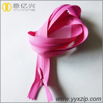 Factory direct modern dress using pink invisible zippers