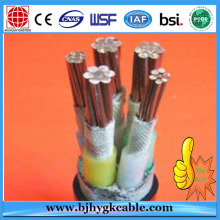 0.6/1kV 5X25mm XLPE insulated steel wire armored power cable