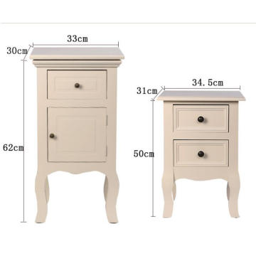 Cheap PriceList for Bedroom Nightstands living room white wooden bedside table cabinet 2 drawers night stand supply to Sao Tome and Principe Wholesale