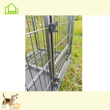 Square tube dog car cage