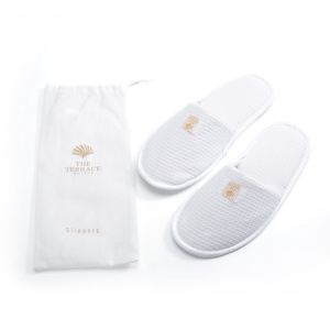 Close toe slippers waffle slipper with bag