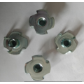 Zinc plating  Carbon steel 4 prong T-nuts