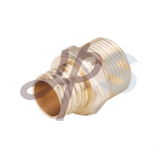 Brass Pex Male Straight Coupling H872