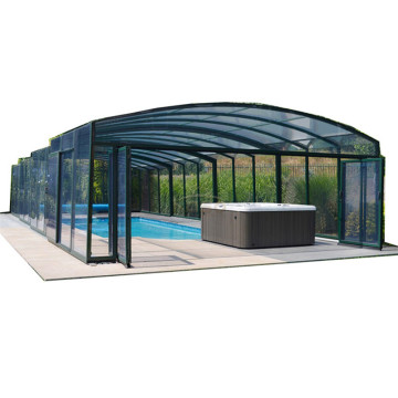 Enclosure Retractable Rain Shelter Hot Tub Dome