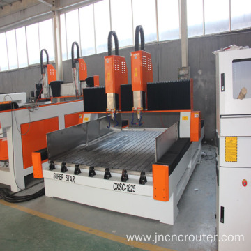 double heads cnc stone carving machine