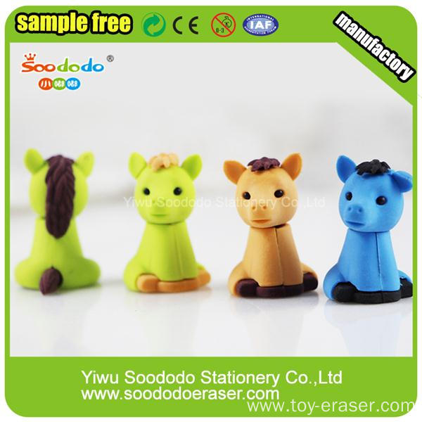 Cheap Customized School Promotional TPR Unicorn Horse eraser