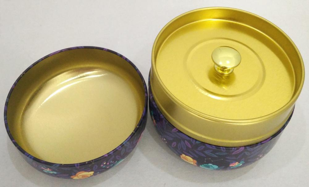 Garden Light Printing Round Tea Tin Box