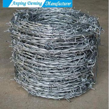 Hot Dip Galvanized Barbed Wire for Protecting Mesh