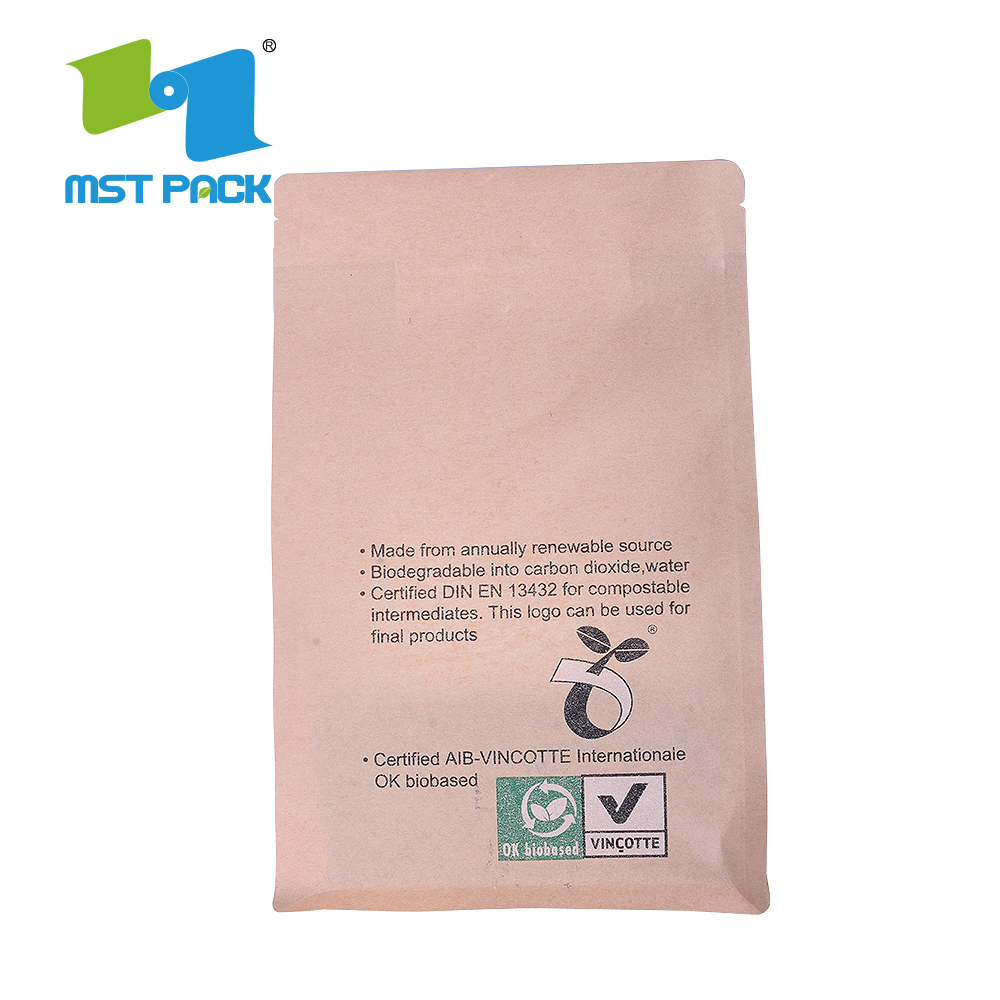 Factory Price Bio Food Grade Kraft Paper Bag