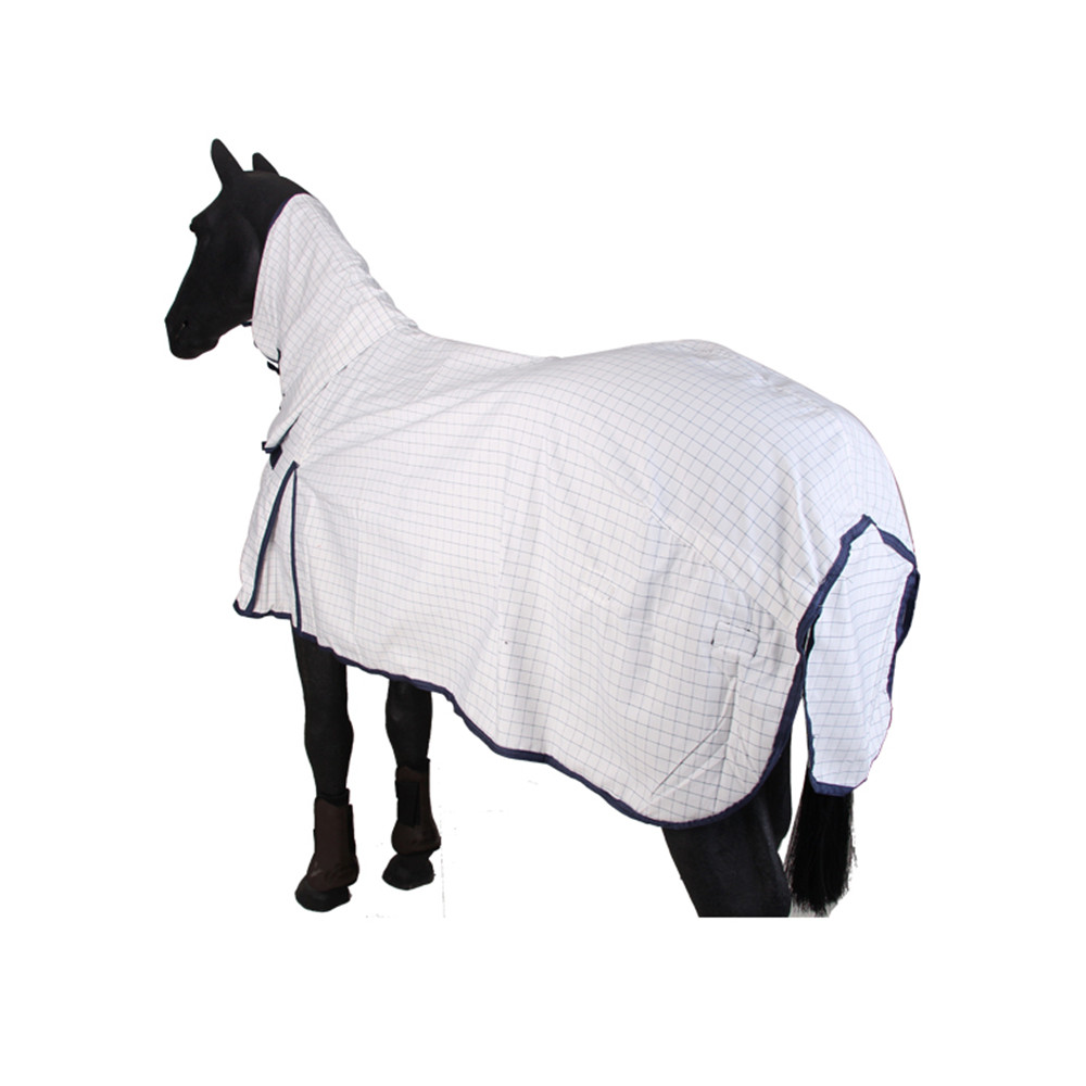 Combo White Horse Fly Rugs Checked