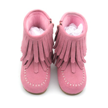 New Fashion Design for for Baby Leather Boots Wholesales Hard Sole Winter Child Boots supply to Italy Factory