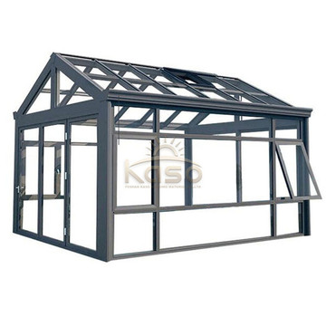 Sunroom House Tempered Glass Frame Curved Aluminum Sunroom