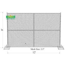 Construction temporary chain link fence