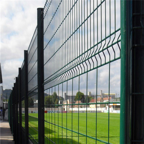 powder coating peach shaped post wire mesh fence