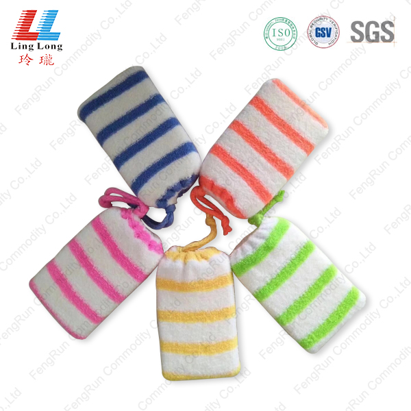 Durable bath sponge with microfiber cloth
