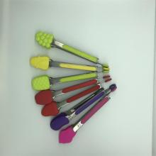 Fruit style silicone kitchen tongs