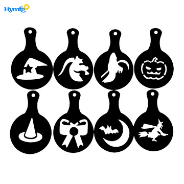Set of 8pcs Christmas Cappuccino Coffee Stencils
