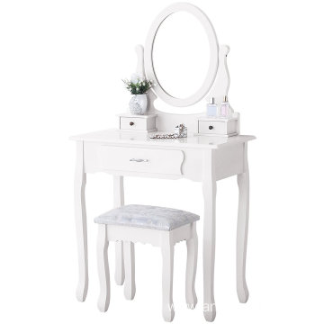 3 drawers wooden Mirrored dressing table