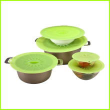 High reputation for Silicone Suction Lid Non spill FDA LFGB silicone food storage covers supply to Netherlands Antilles Factory