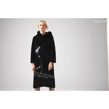 Reversible Women Australia Merino Shearling Coat