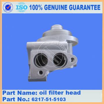 PC450-8 oil filter head 6217-51-5103 komatsu excavator parts
